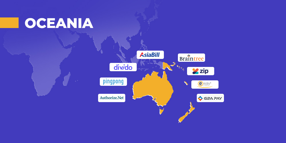 payment providers in Oceania