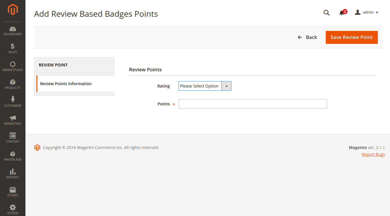 Add Review Based Badges Points