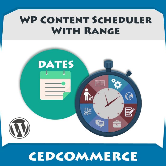 WP Content Scheduler With Range