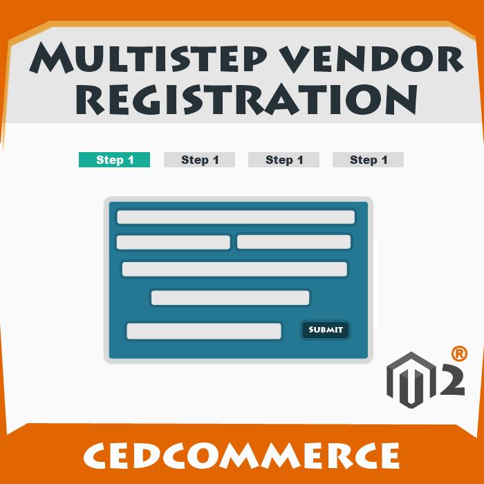 Multistep Vendor  Registration Addon [M2]