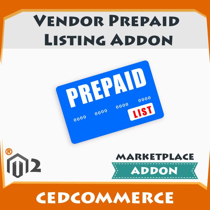 Vendor Prepaid Listing Addon [M2]