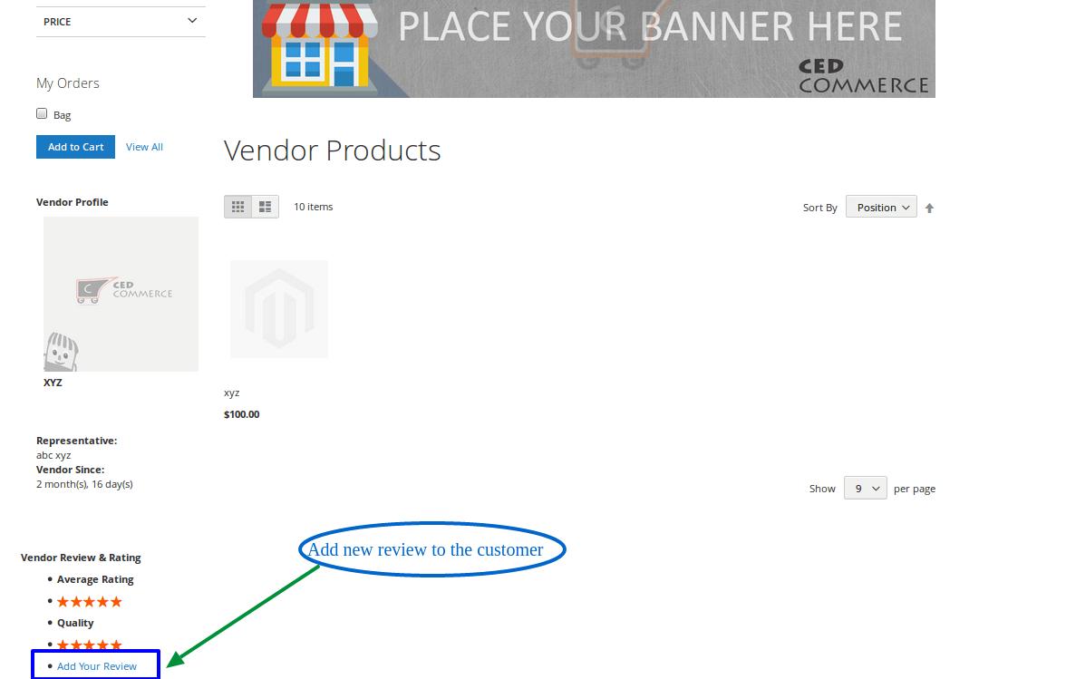 Add Review To Vendor