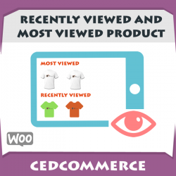 Recently viewed and most viewed products