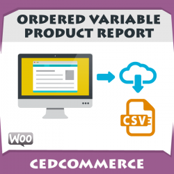 Ordered Variable Product Report