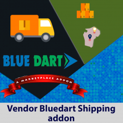 Vendor Bluedart Shipping Addon