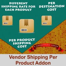 Vendor Shipping Per Product Addon