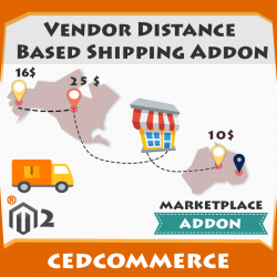 Vendor Distance Based Shipping Addon [M2]