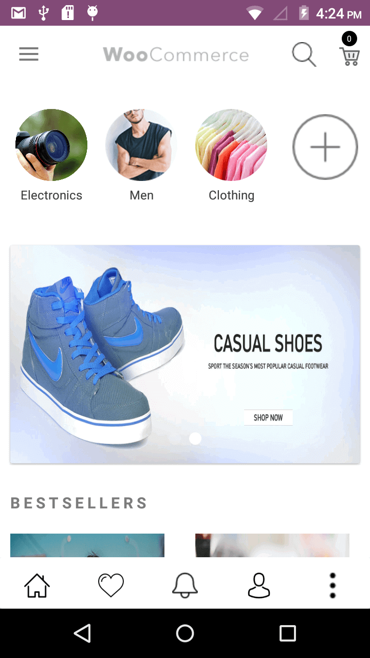 Magenative Woocommerce Mobile App Homepage