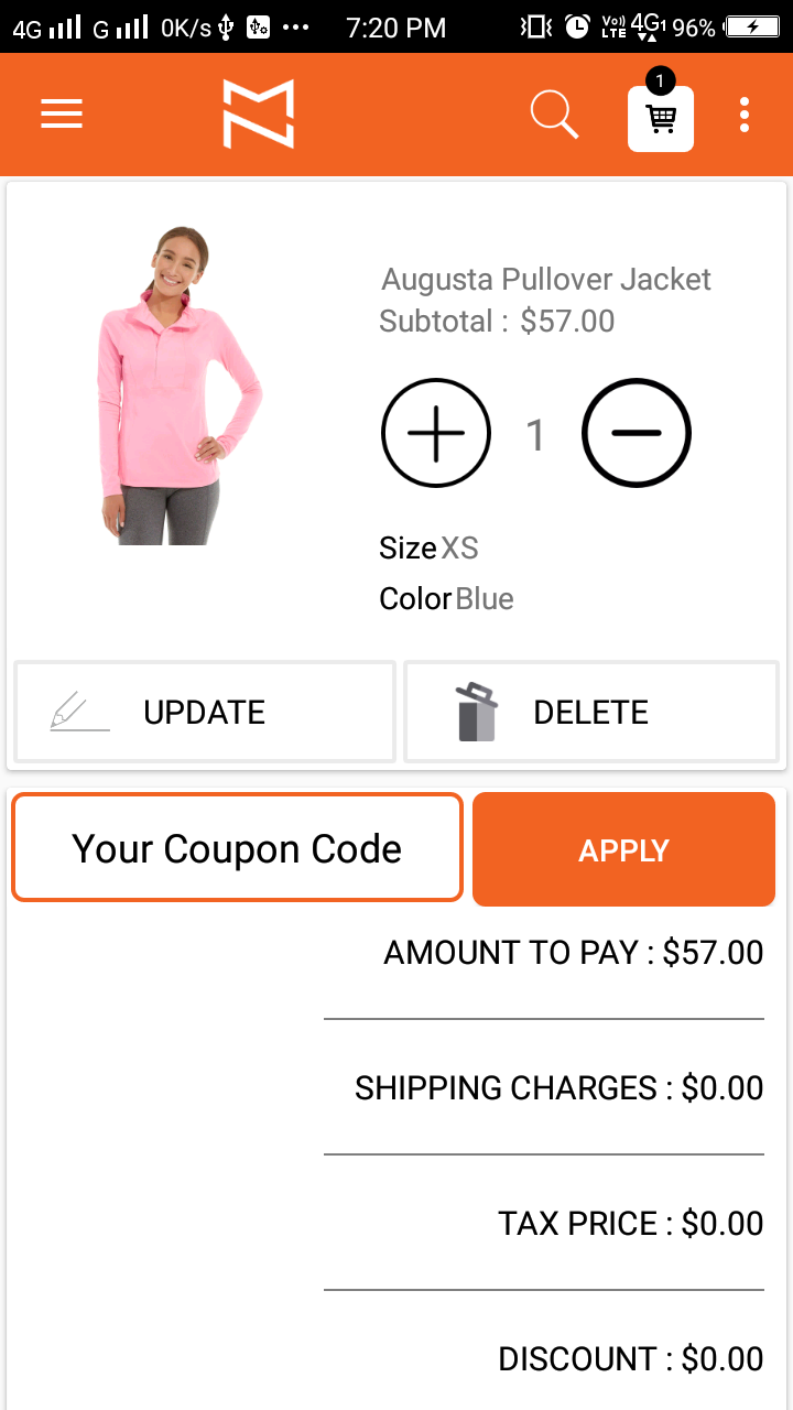 Magento 2 Mobile app Single Product View