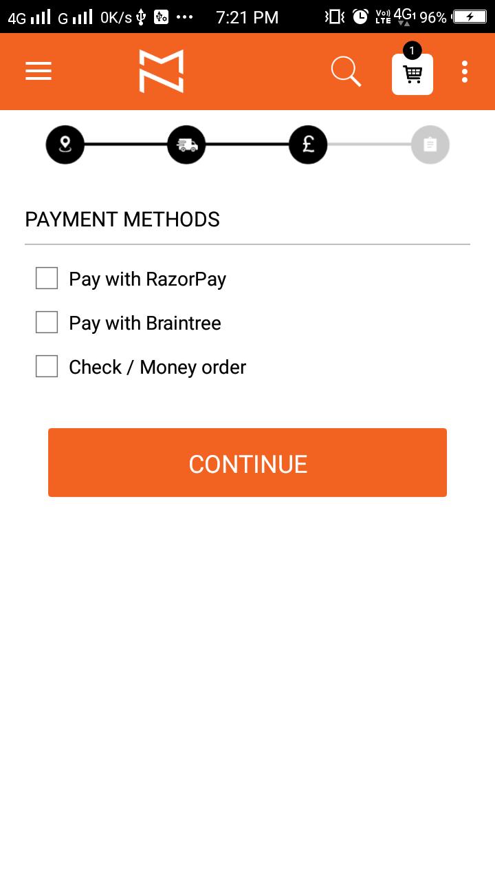 Magento 2 Mobile app Native Checkout