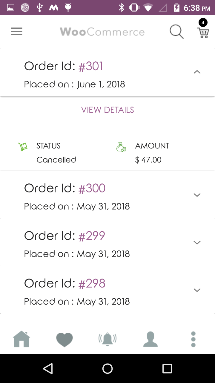 Magenative Woocommerce Mobile App Order Manage Section