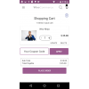 Magenative Woocommerce Mobile App product cart and coupon code option