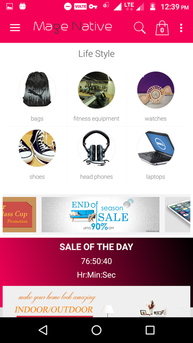 MultiVendor Magento Category Page app layout