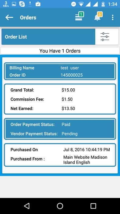 MultiVendor Order list and edit